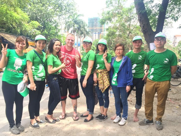 Thu Cuc International General Hospital cleaned the enviroment with James