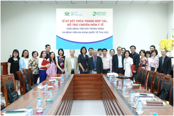 Thu Cuc Hospital signs the agreement of professional cooperation with Vietnam National Children's Hospital